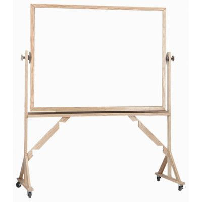 """AARCO Reversible Free Standing Whiteboard Size: 3' 6"""" H x 5' L"""