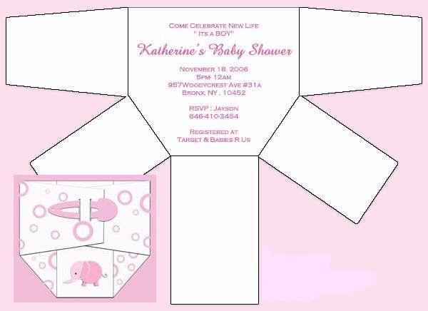 ... de pañal para invitaciones de baby shower con moldes (de la web