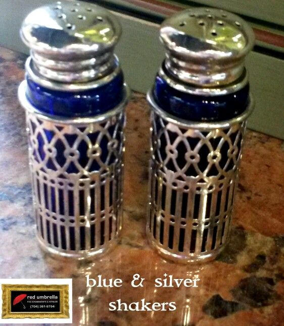 Blue & Silver shakers