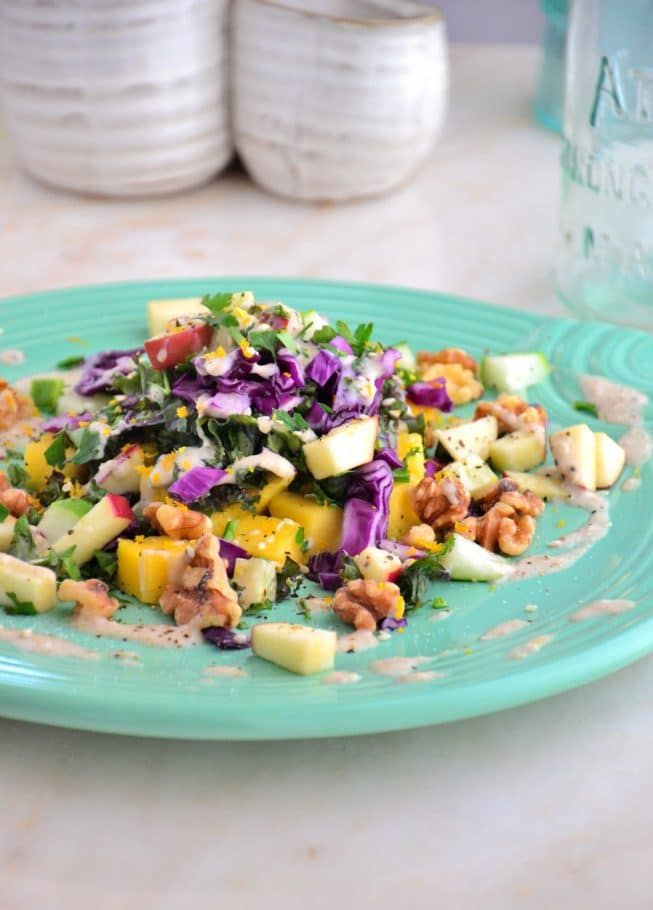 Butternut Apple Kale Salad With Gorgeous Oatmeal Drizzle Gluten Free Dairy Free Soy Free
