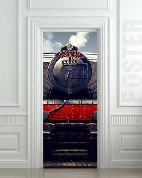 "Wall Door STICKER harry potter hogwarts express train mural decole film poster 31x79""(80x200cm) by pulaton, $39.99 USD"