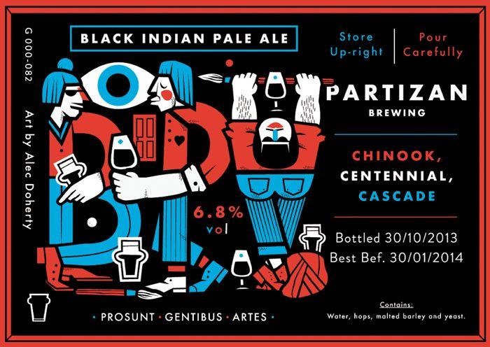Partizan Brewing Black IPA - G000-082