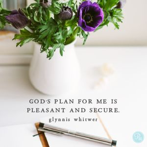 Although David refers to property lines, this is a lovely image of God's plan for balancing our lives. God has boundary lines established for us that are pleasant and manageable. He never meant for our lives to be a jumble of overcommitment. Rather, God's plan is peaceful and ordered.  - Glynnis Whitwer