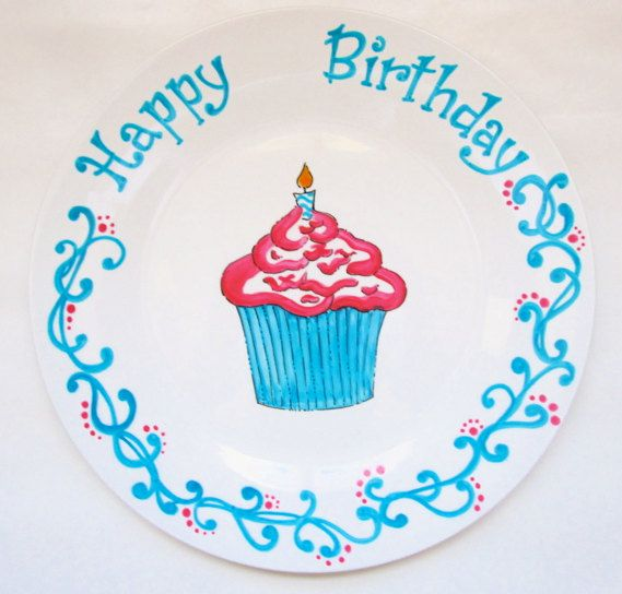 Personalized Birthday Plate by AnnasWhimsies on Etsy