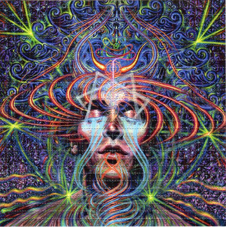 fractal face eyes blotter art psychedelic perforated lsd