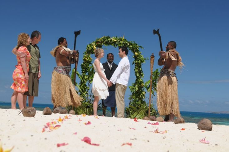 Treasure Island Fiji - beach wedding...
