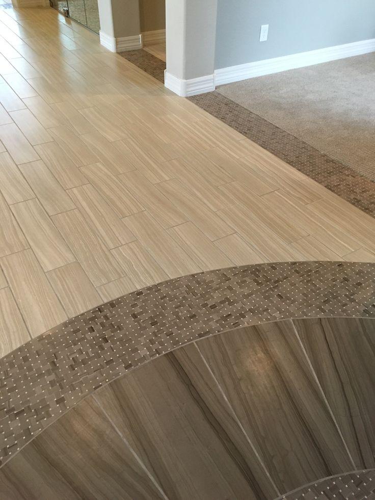 Herringbone Tile Floor Kitchen Transition