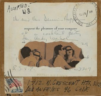 Wallace Berman postcard collage