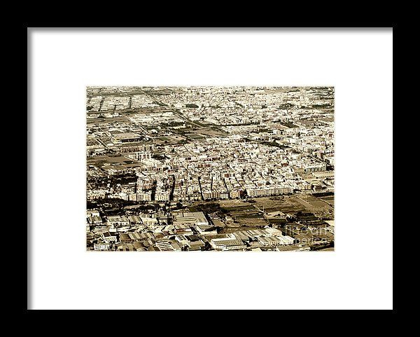 Aerial Photo Of Valencia City Surrounding Area In Spain Framed Print