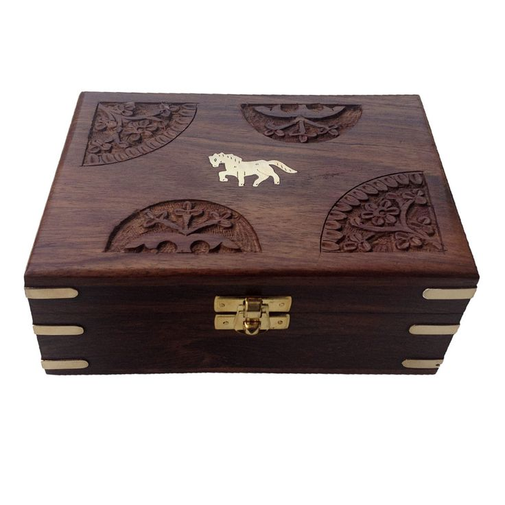 Hand Made Velvet Inside Rectangle Exotic Wood Storage Box #Asian #RoyalKraft