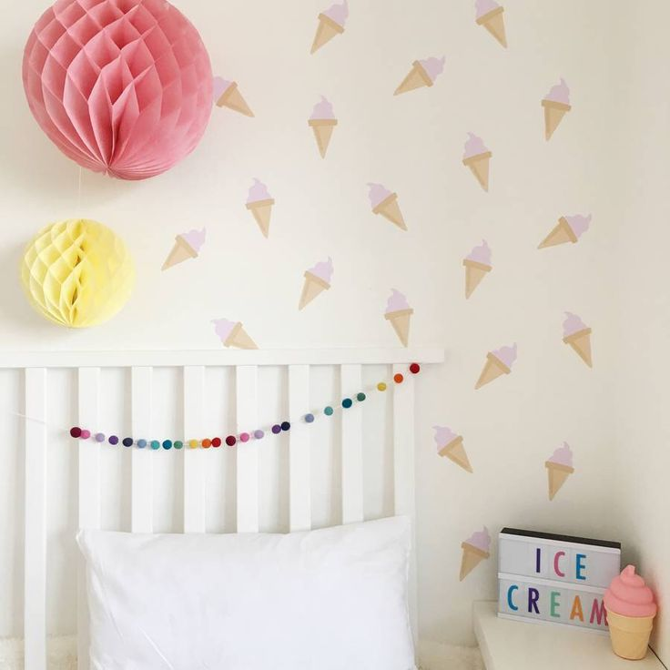 I've just found Ice Cream Wall Stickers. A yummy collection of pink ice-cream wall stickers to give your room a summer make-over!. £16.80