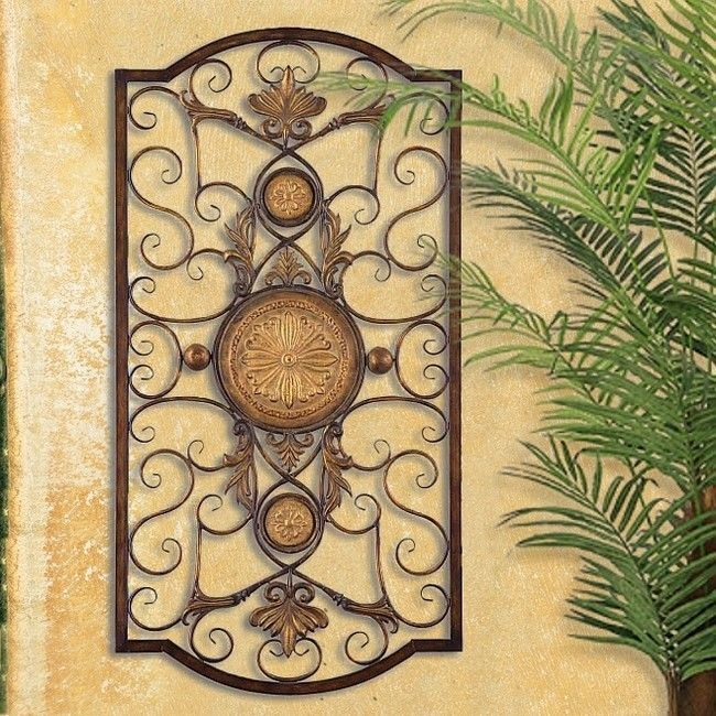 TUSCAN ITALIAN Old World MEDITERRANEAN Style WALL GRILLE PANEL 3 1/2 FEET TALL #TuscanItalianMediterraneanStyle