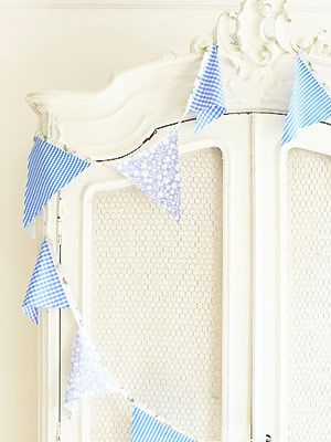Make bunting from old clothes