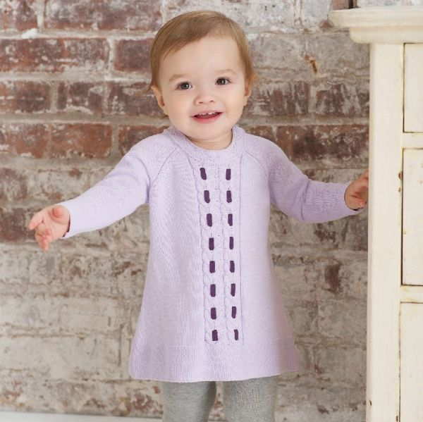 Beautiful luxurious cotton top for Spring for baby girls!