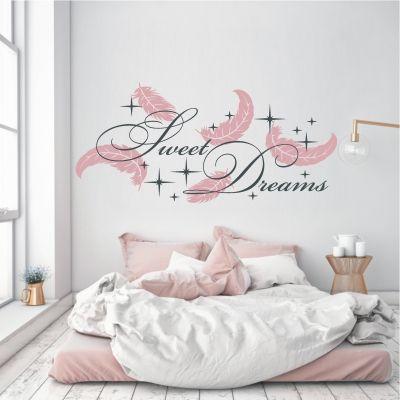 deko-shop-24.de-Wandtattoo-Sweet Dreams Federn 2-farbig