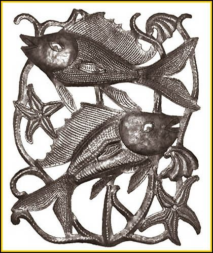 Metal Fish Wall Decor 478 best haiti gallery products - haitian metal art images on
