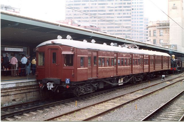 When I first worked in (1981) I rode these around Sydney. Built around 1926-1929. They were in service for 60 years!..amazing. NSW Railways - Single Deck Suburban Train by Sandbunny2010, via Flickrhttp://www.flickr.com/photos/47932052@N03/4890442824