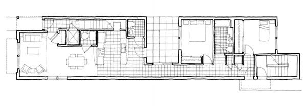 1000 images about planos on pinterest the long for Long narrow house designs