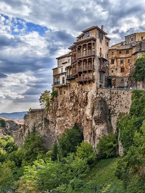 Cliff hanging houses of Cuenca, Castilla-La Mancha, Spain