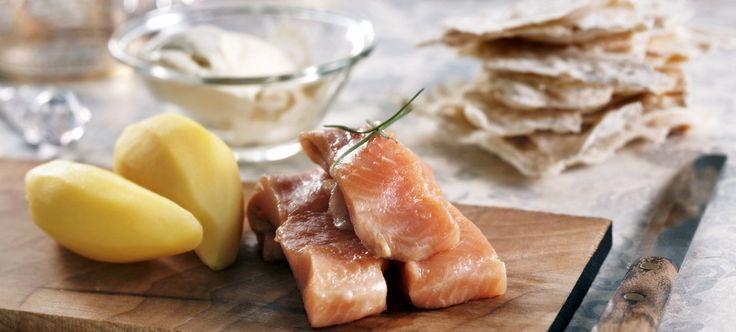 Hareng mariné et pommes de terre vapeur, bienvenue en Norvège ! (c) DR