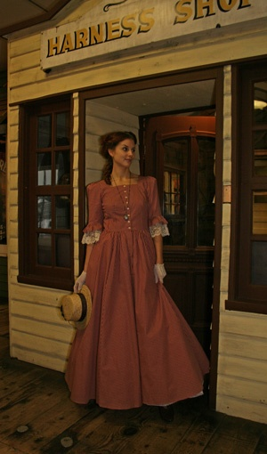 Pioneer dress that would work well for modest too.