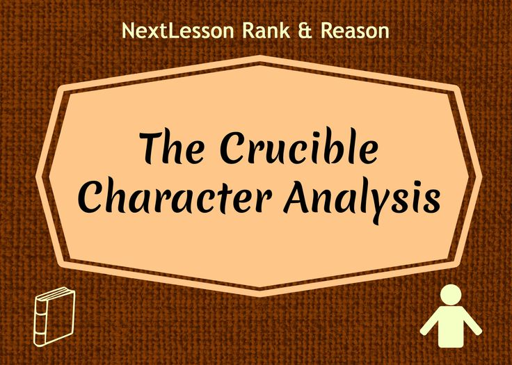 an overview of integrity in the crucible a play by arthur miller Many people still feel that once integrity is lost they are nothing and many are integrity in the crucible in arthur miller's play, the crucible.