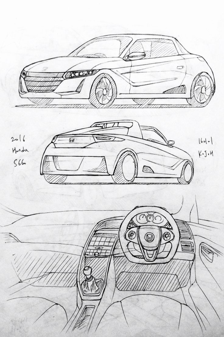 how to draw the inside of a car