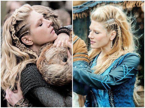 Lagerta Side Braids Viking Inspired Hairstyles For Women Viking Hairstyles Women Hair Viking Hair Lagertha Hair Casual Wedding Hair