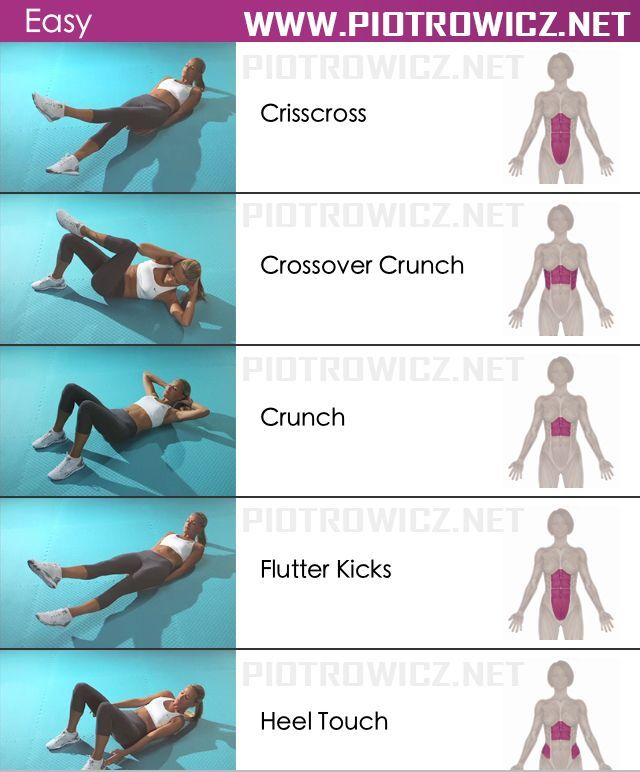 Easy Female Abs Workout - Sixpack Exercises