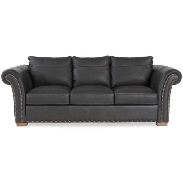 Charcoal Italian All Leather Sofa 1N-4822S