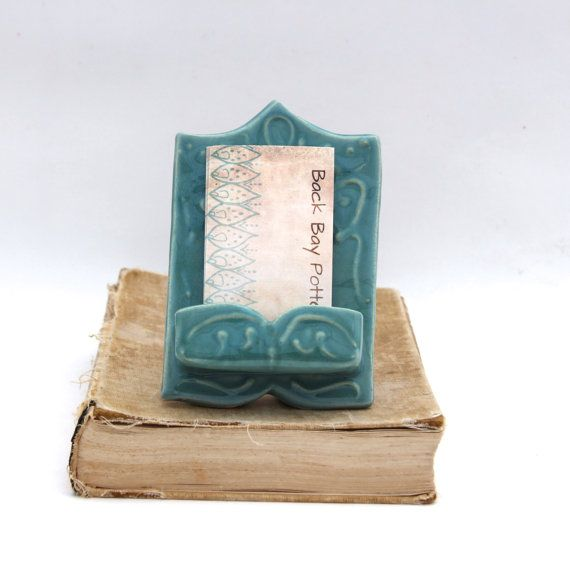 78 best business card holder images on pinterest card holder vertical business card holder ooak handmade ceramic robins egg blue shabby chic cottage ready to ship reheart Images