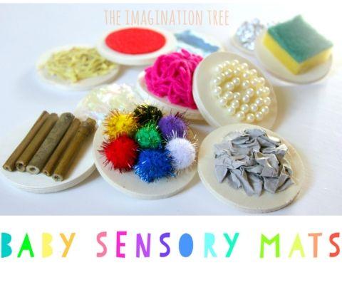 DIY sensory mats for babies