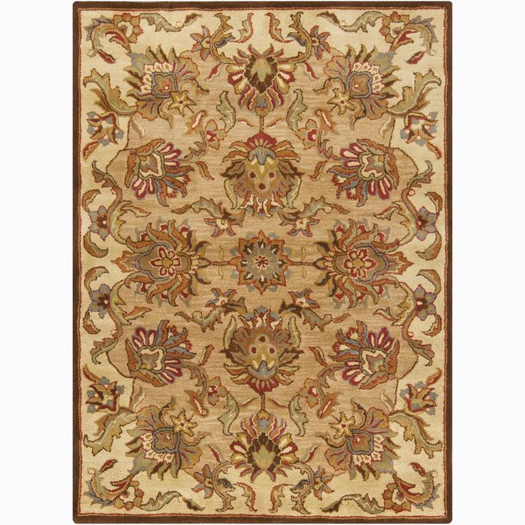 Hand Knotted Persian Style Wool Pile Area Rug: A Thick, Soft Pile Highlights This Area Rug. Hand-tufted