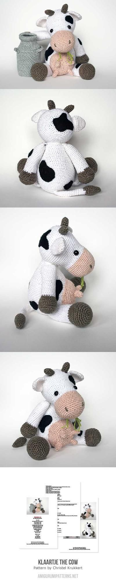 Klaartje The Cow Amigurumi Pattern                                                                                                                                                      More