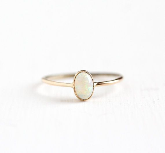 Hey, I found this really awesome Etsy listing at https://www.etsy.com/listing/254680769/antique-10k-rose-gold-dainty-opal-ring