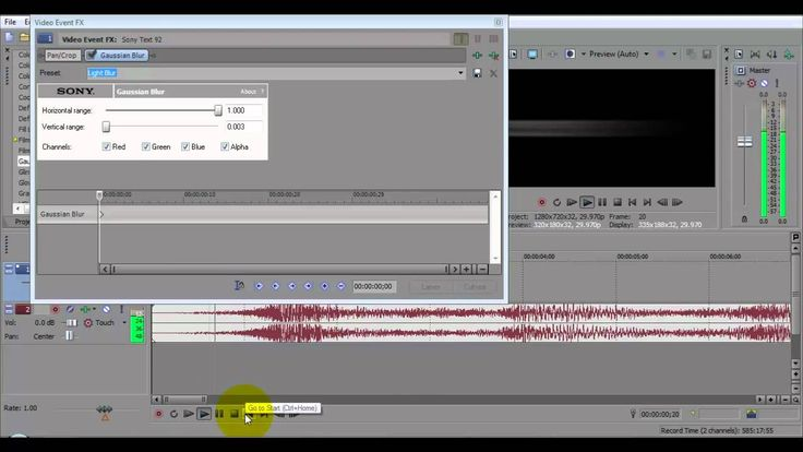 Sony Vegas Tutorial: Text Effects