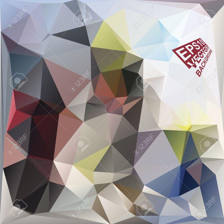 Multicolor (rojo, Azul, Amarillo, Verde, Motley) Plantillas De Diseño. Fondo Geométrico Triangular Abstracta Moderna Del Vector. Ilustraciones Vectoriales, Clip Art Vectorizado Libre De Derechos. Pic 33568121.