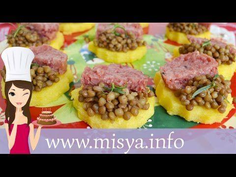 Crostini di polenta e cotechino, la ricetta di Misya
