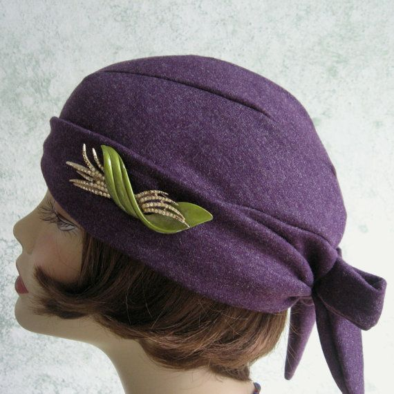 Womens 1930s Hat Pattern Back Wrap Design Easy To Make May Sell Refinished