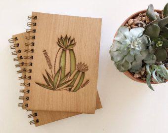 Jardín Botánico Lasercut madera diario del desierto por Cardtorial