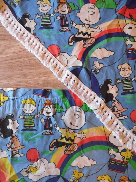 Curtains Snoopy Charlie Brown Children's by OldSteamerTrunkJunk