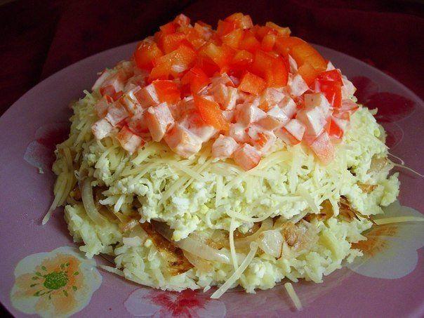 Very simple salat. Read recipe kawaisweets.com