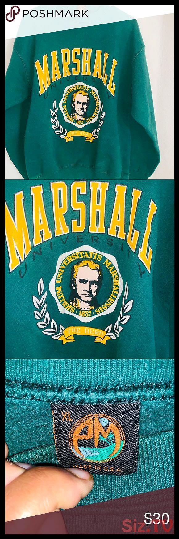 Vintage Marshall University Sweatshirt Green Sweatshirt With Yellow Writing John Marshalls Picture Is On It Sweatshirts Green Sweatshirt University Sweatshirts [ 1740 x 580 Pixel ]