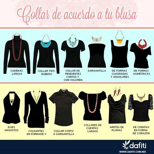 Que collar usar segun el corte de blusa #fashion #tips #necklace
