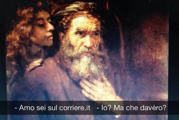Se i quadri potessero parlare - San Matteo e l'angelo - Rembrandt