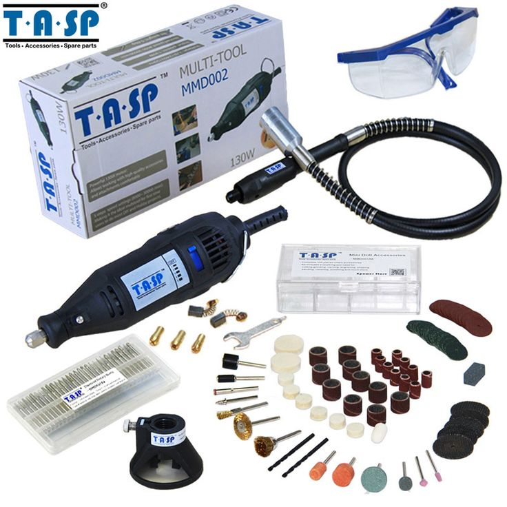 TASP 130W Mini Drill Electric Rotary Tool with Flexible Shaft and 140 Accessories Power Tools  Price: 40.25 USD
