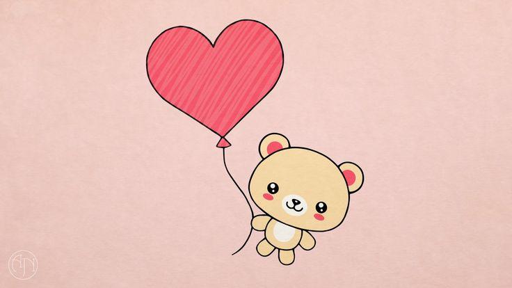 valentine teddy bear drawing draw easy cartoon heart hearts valentines drawings sketch present bears things card pencil february getdrawings pen