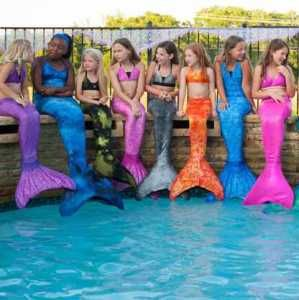 A Dream Come True! Gorgeous Fin Fun Mermaid Tails are a magical gift whether it's for swimming or a costume. Made out of spandex & designed to look & feel like a real mermaid tail. Swimmable & fun, they also have a flipper/monofin to go under tail. For kids & also in adult sizes w/matching bathing suits to complete the mermaid ensemble. 13 sparkly irridescent colors & designs. Mermaid Tail & Fin, under $100 & see 10% off Coupon Code to the left. A dream come true gift. Top Gift on NY1 & NBC…