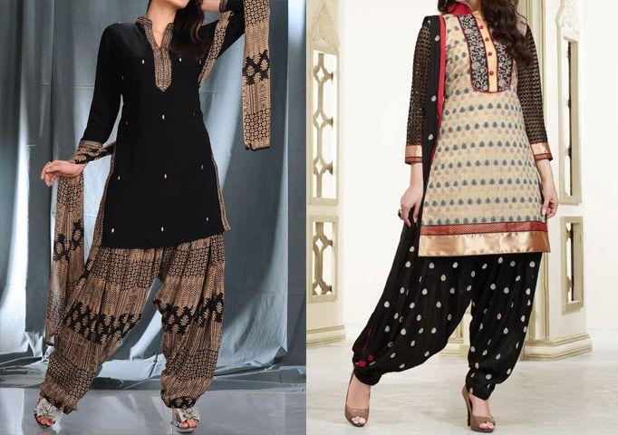Stylish Punjabi Salwar Kameez Neck Design Churidar Pajama