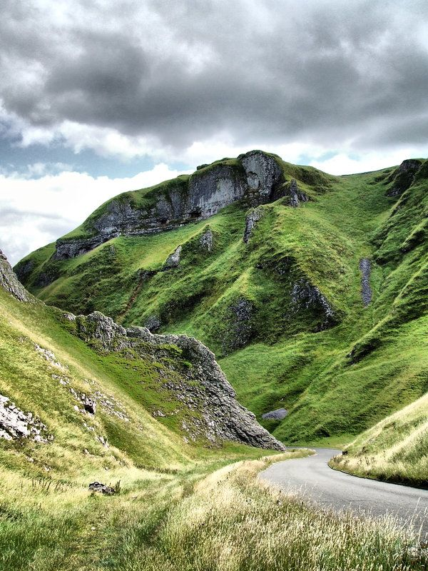 Derbyshire, UK - Winnat's Pass (when the weather is nice it's usually full of tourists and cars!!)